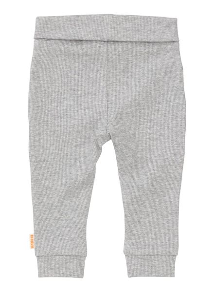 newborn-premature trousers bamboo stretch grey melange grey melange - 1000013403 - hema