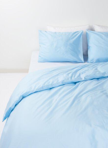 drap-housse - coton doux - 200 x 200 cm - bleu clair - 5700070 - HEMA