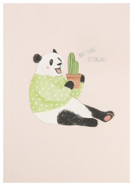 exercise book 25.5x18 ruled panda - 14150067 - hema
