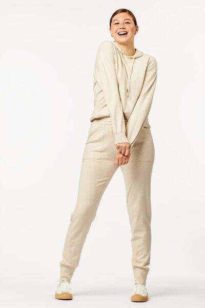 Hosen - HEMA Damen Loungehose Sandfarben  - Onlineshop HEMA