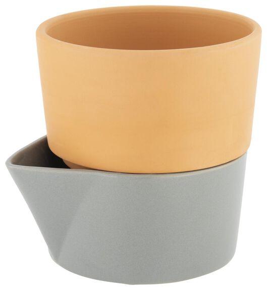 flower pot with water reservoir Ø14 cm terracotta - 41810063 - hema