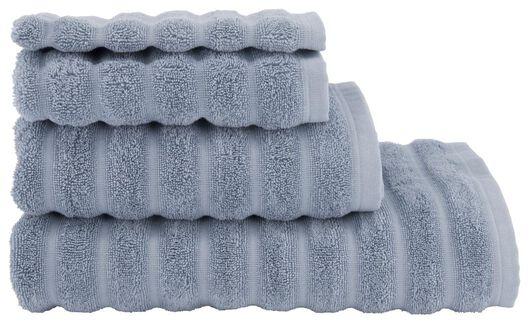HEMA Serviette De Bain Qualité Épaisse Relief Gris Foncé Bleu (bleu)