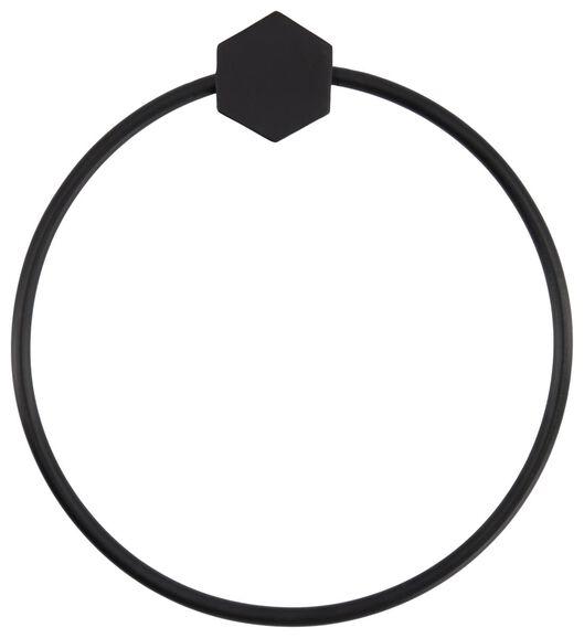 Handtuchring, Ø 19 cm, Metall, schwarz - 80300144 - HEMA