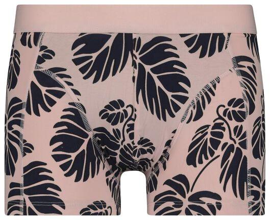 herenboxer kort katoen stretch - bladeren roze roze - 1000020833 - HEMA
