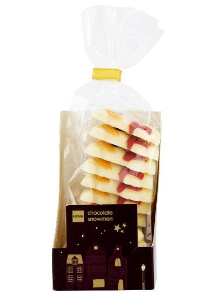 bonhommes de neige en chocolat blanc - 10040040 - HEMA