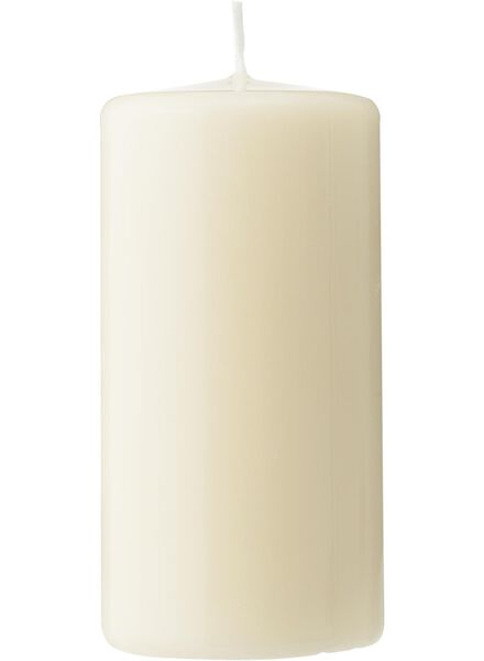 grosse bougie - 12x6 cm - ivoire ivoire 6 x 12 - 13502287 - HEMA