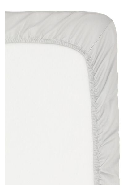 drap-housse - hôtel coton satiné - 140 x 200 cm - gris clair gris clair 140 x 200 - 5150004 - HEMA