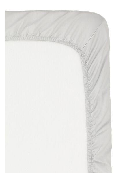 drap-housse - hôtel coton satiné - 160 x 200 cm - gris clair - 5150005 - HEMA