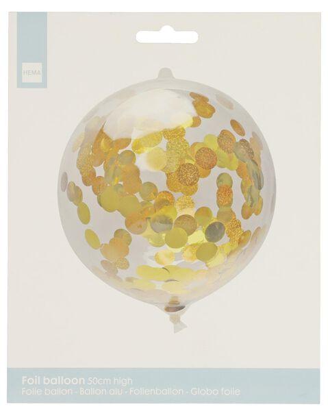 ballon alu avec confettis 50 cm - 14200193 - HEMA