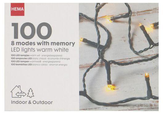 verlichtingssnoer 100 LED lampjes 8 functies 12.5m - 25530309 - HEMA
