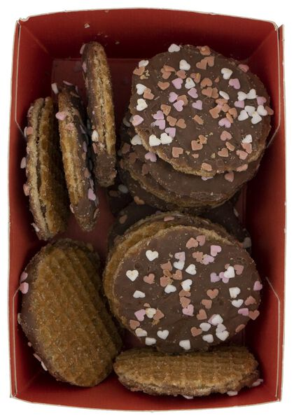 treacle wafers with chocolate and small hearts 145 grams - 10820001 - hema