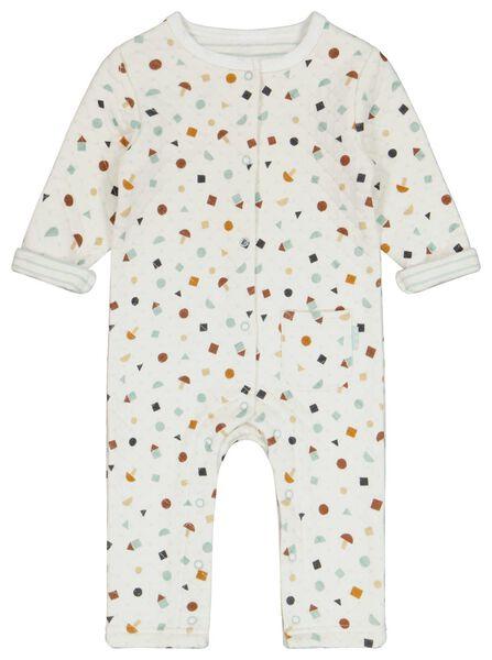 Newborn-Jumpsuit, gefüttert eierschalenfarben 74 - 33421015 - HEMA