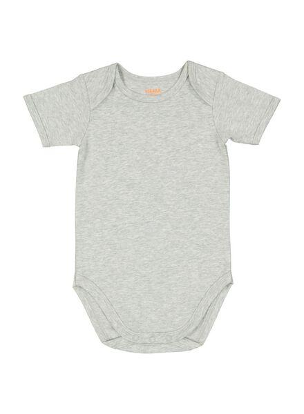 body bébé stretch gris chiné gris chiné - 1000011996 - HEMA