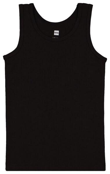 2-pack children's vests black black - 1000017792 - hema