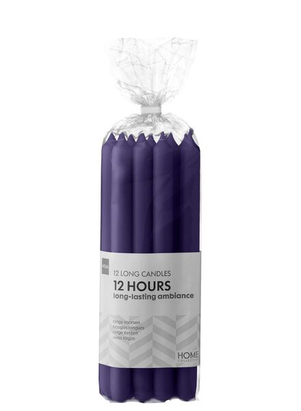 12-pack long household candles purple 2.2 x 29 - 13503388 - hema