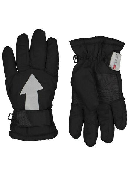 gants enfant noir noir - 1000015337 - HEMA