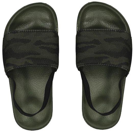 children's flip-flops camouflage dark green dark green - 1000023097 - hema
