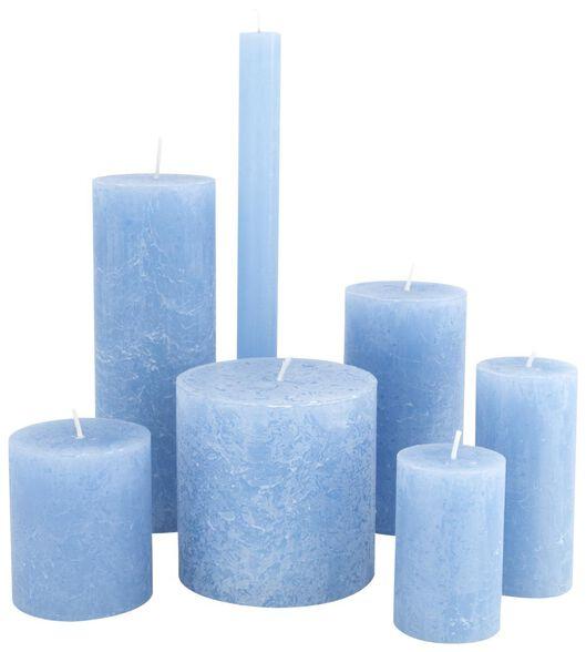 bougies rustiques bleu bleu - 1000020029 - HEMA