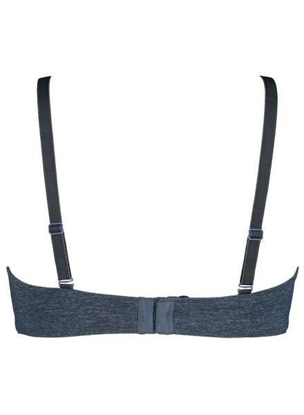 padded bra no underwire micro blue blue - 1000014479 - hema