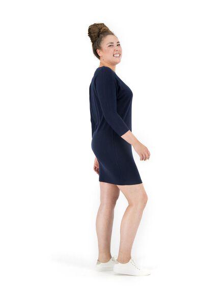 women's dress dark blue dark blue - 1000014821 - hema
