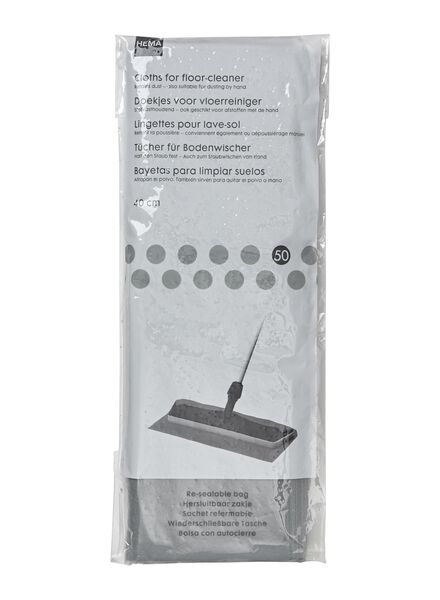 50-pack wipes for the floor cleaner - 20560164 - hema
