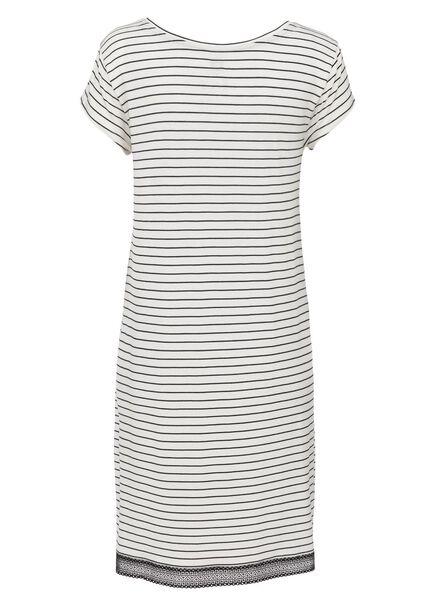 Damen-Nachthemd, Viskose schwarz/weiß schwarz/weiß - 1000013157 - HEMA