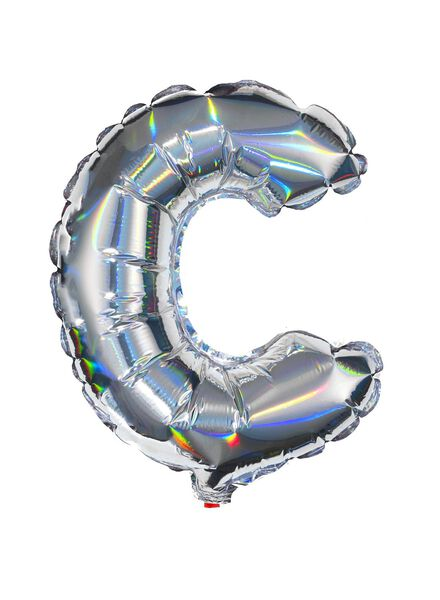 foil balloon C - silver - 14200205 - hema