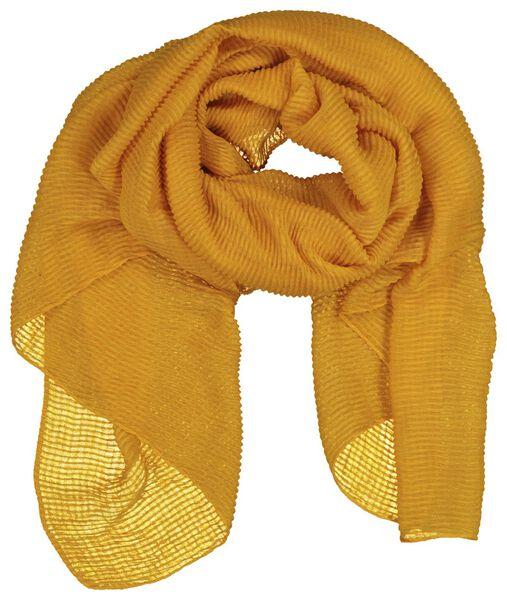 HEMA Damen-Schal, 200 X 80 Cm, Knittereffekt, Ockergelb