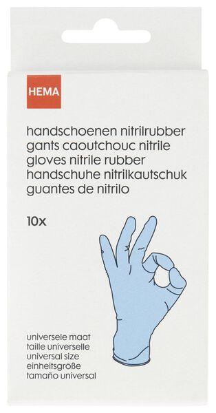 10 disposable gloves nitrile rubber - 20520043 - hema