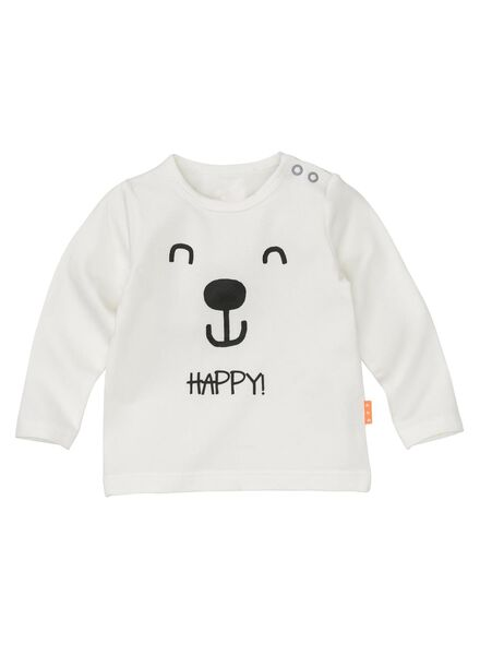 newborn T-shirt - bamboo off-white off-white - 1000005666 - hema