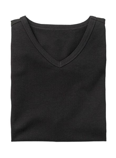 men's slim-fit T-shirt black black - 1000005981 - hema