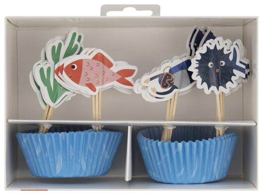 kit pour 24 cupcakes - sous-marin - 14200327 - HEMA