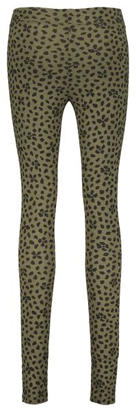 Damen-Leggings mit Bambus olivgrün XL - 36279442 - HEMA