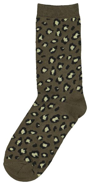 Damen-Socken, Tiermuster graugrün graugrün - 1000021836 - HEMA