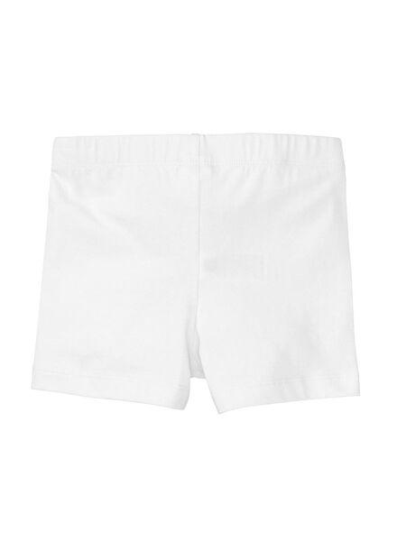 children's leggings short off-white off-white - 1000006350 - hema