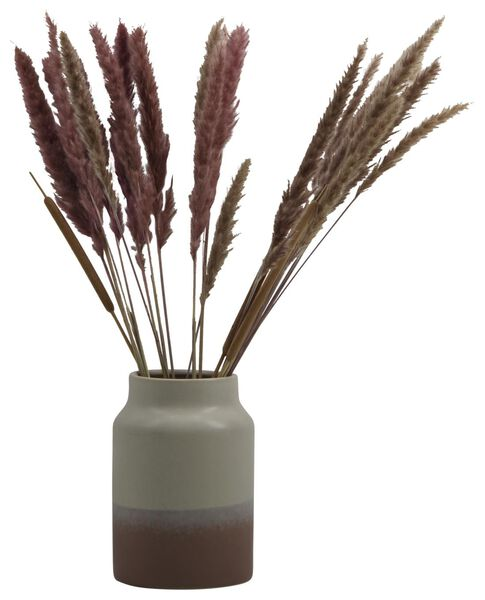 Vase, Ø 18.5 x 26.5 cm, Keramik, naturfarben-rosa - 13311081 - HEMA