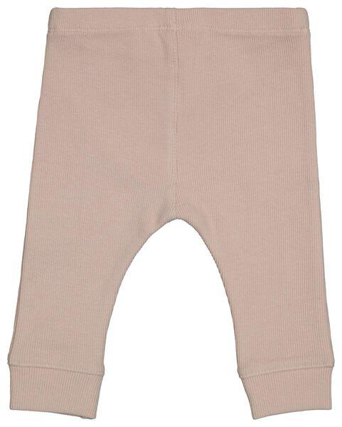 newborn rib legging organic katoen stretch roze roze - 1000022713 - HEMA