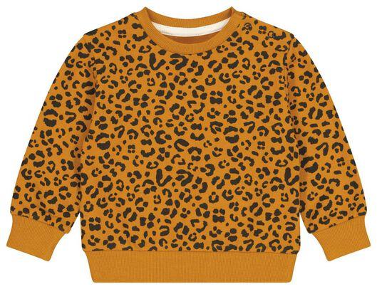 Babyoberteile - HEMA Baby Sweatshirt, Animal Braun - Onlineshop HEMA
