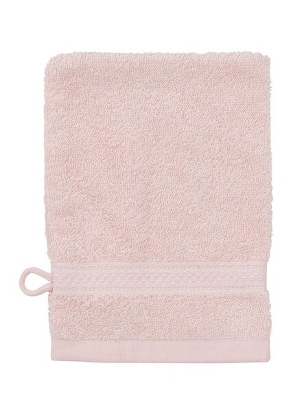 gant de toilette-qualité épaisse-rose clair uni - 5240010 - HEMA