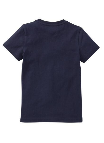 t-shirt enfant - coton bio bleu foncé bleu foncé - 1000019371 - HEMA