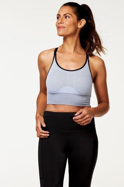 padded sports bra - seamless white white - 1000020391 - hema