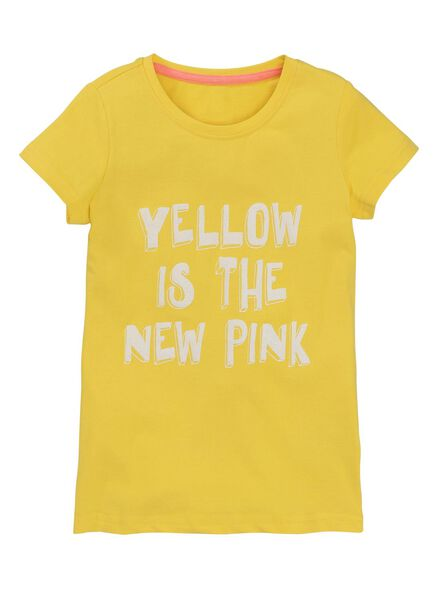 children's T-shirt yellow yellow - 1000006164 - hema
