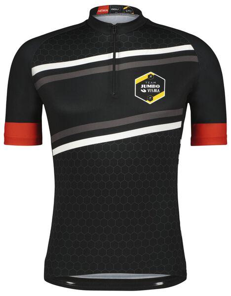 fietsshirt TJV replica zwart zwart - 1000024248 - HEMA