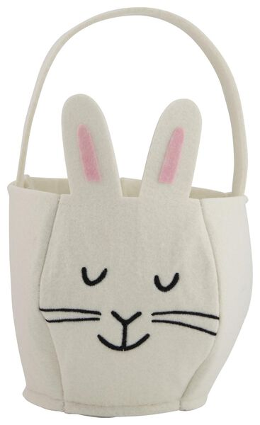 Image of HEMA Small Bag Bunny White Felt Ø 14 Cm