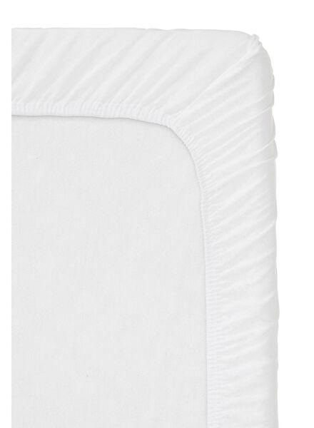 drap-housse - jersey coton - 90x220 cm - blanc blanc 90 x 220 - 5100165 - HEMA