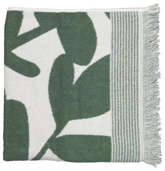 towel - 70x140 - heavy quality - leaves green/white - 5210113 - hema