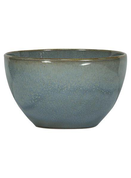 schaal - 14 cm - Porto - reactief glazuur - blauw - 9602026 - HEMA