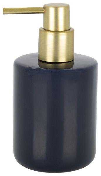 soap dispenser - Ø8x15cm - ceramic - dark blue - 80310015 - hema