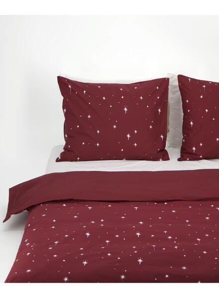 housse de couette - coton doux - étoiles rouge foncé rouge foncé - 1000016621 - HEMA