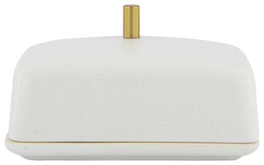 Butterglocke, 9.5 x 14 x 5 cm, Keramik, weiß - 25810122 - HEMA